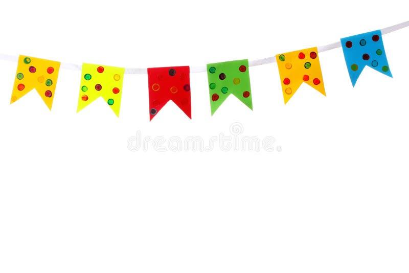 Banderas de la decoración fotos de archivo libres de regalías