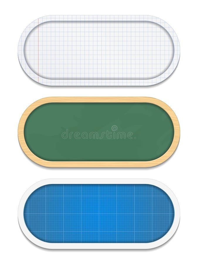 Banderas de la educación ilustración del vector