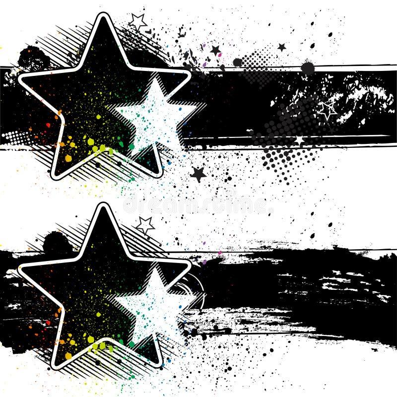 banderas de la estrella ilustración del vector