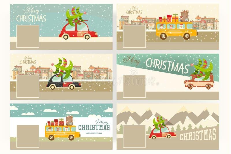 Banderas de la Feliz Navidad libre illustration