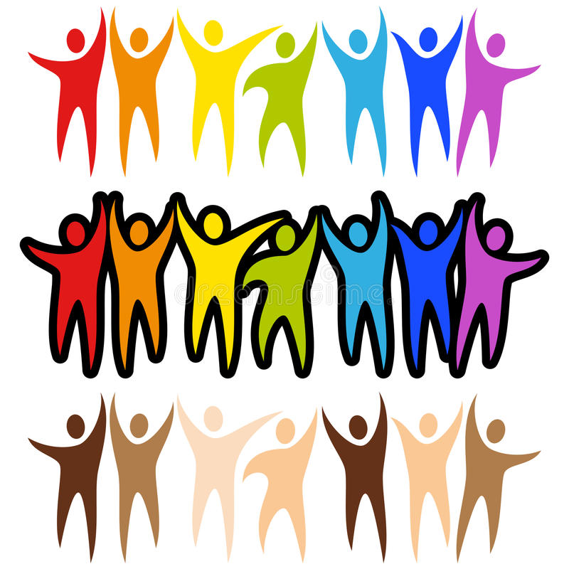 Banderas de la gente de la diversidad ilustración del vector