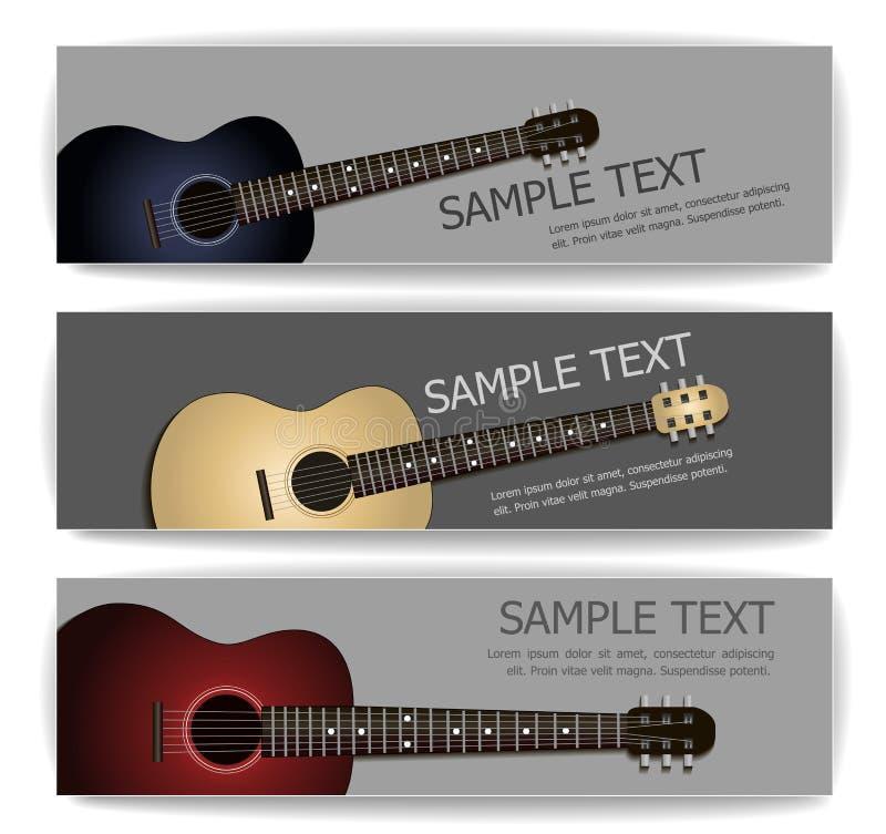 Banderas de la guitarra libre illustration