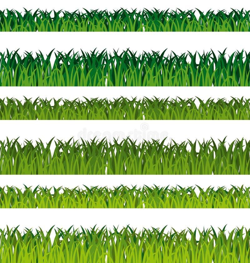 Banderas de la hierba verde ilustración del vector
