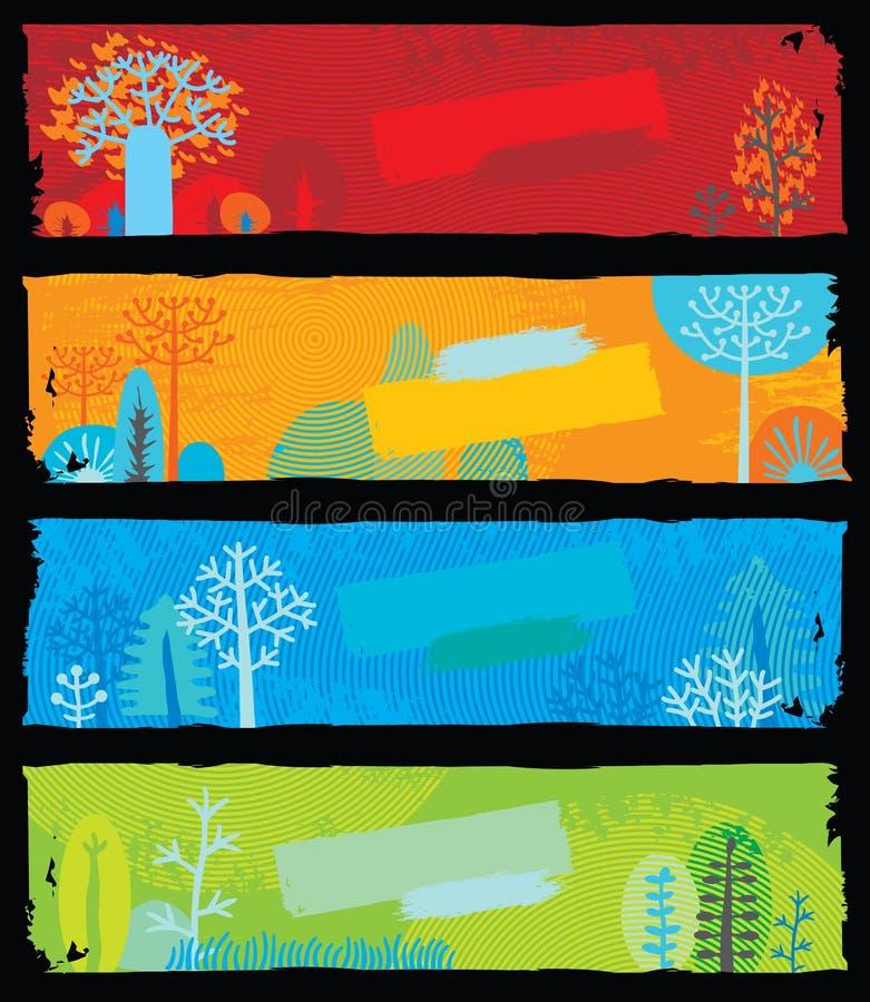 Banderas de la naturaleza stock de ilustración