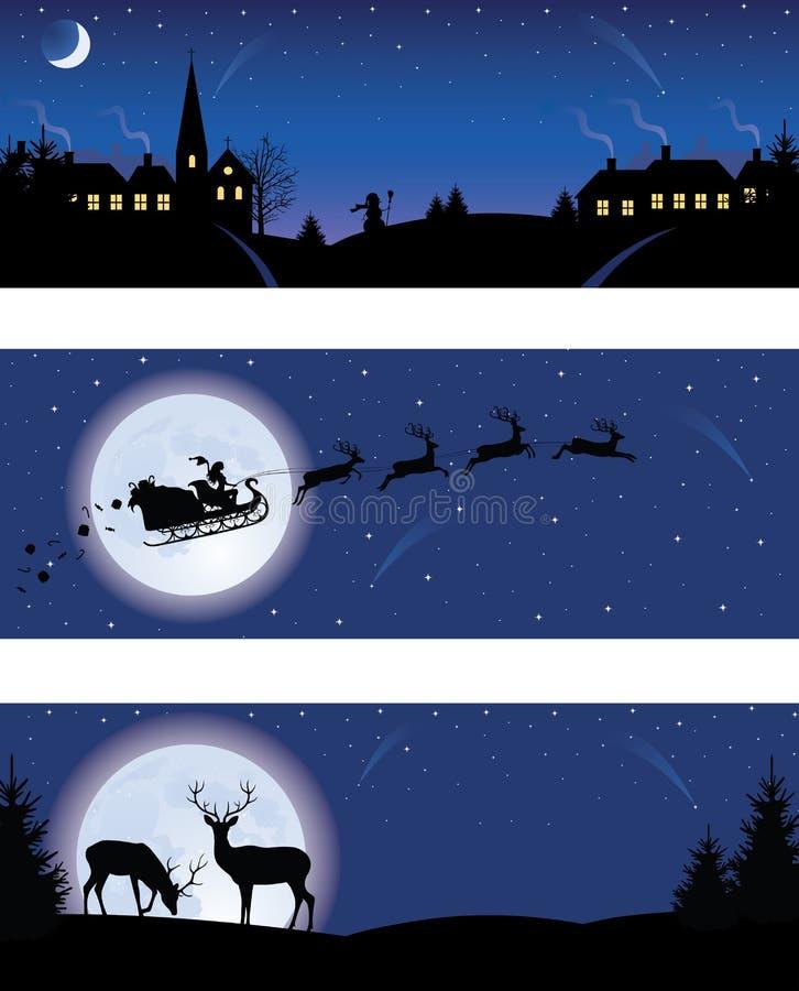 Banderas de la Navidad. ilustración del vector