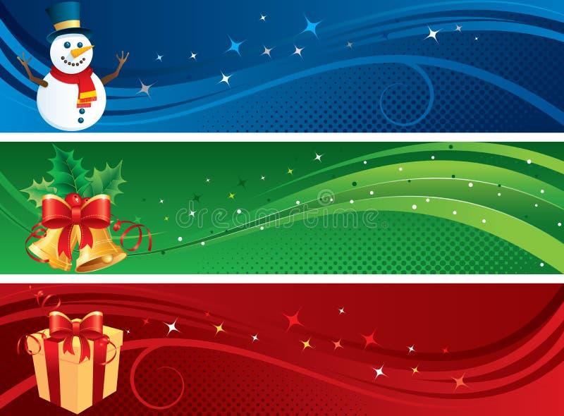 Banderas de la Navidad ilustración del vector