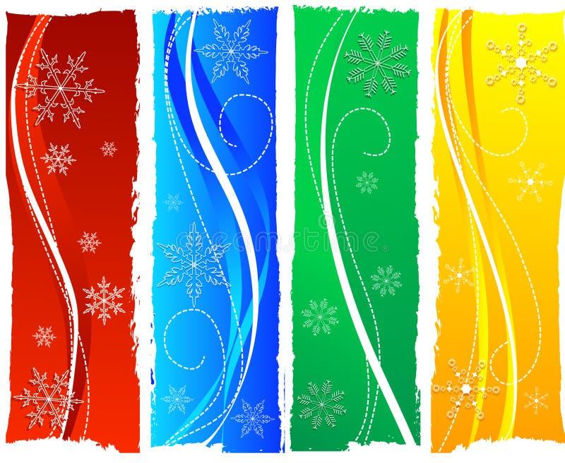 banderas de la Navidad stock de ilustración