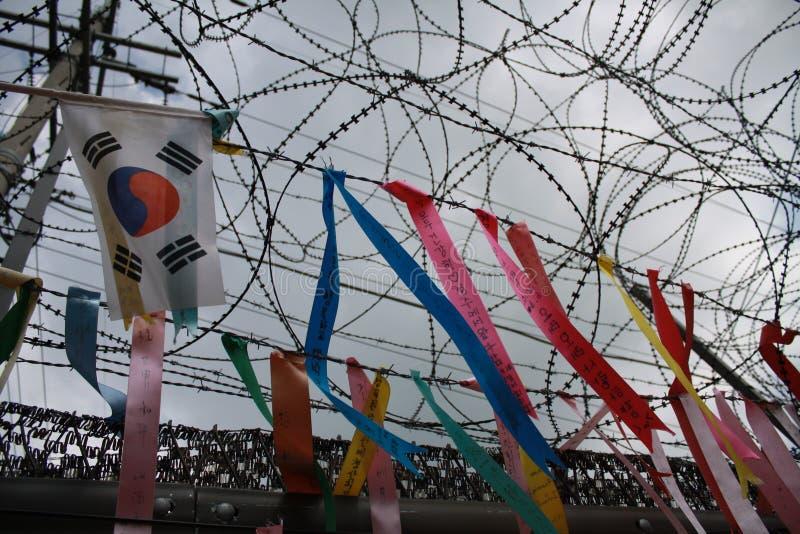 Banderas de la paz en el Sur Corea imagenes de archivo