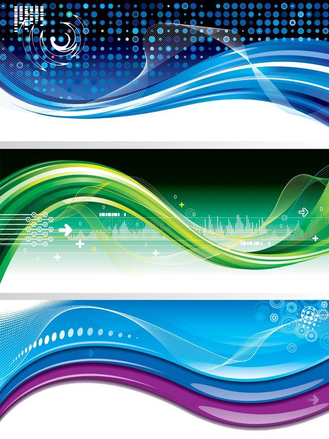 Banderas de la tecnología ilustración del vector