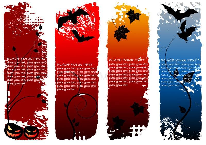 Banderas de la vertical de Víspera de Todos los Santos libre illustration