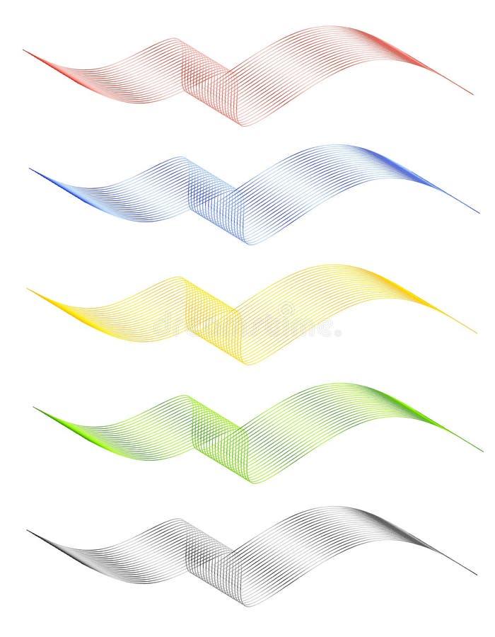 Banderas de las insignias de la cinta del acoplamiento de alambre stock de ilustración