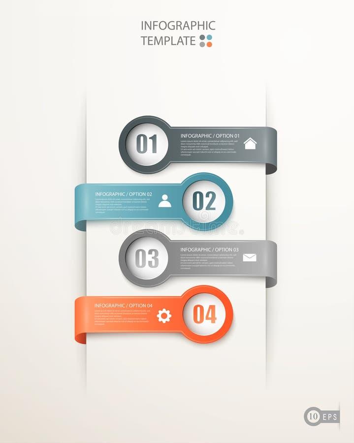 Banderas de las opciones de Infographics ilustración del vector