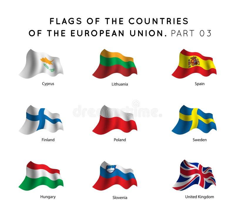 Banderas de los países de UE libre illustration