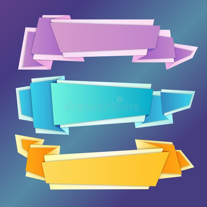 Download Banderas De Origami Fijadas Ilustración del Vector - Ilustración de discurso, aislado: 42436036
