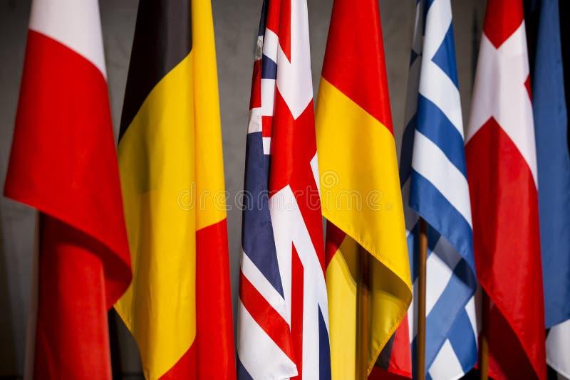 Banderas de países de UE fotos de archivo