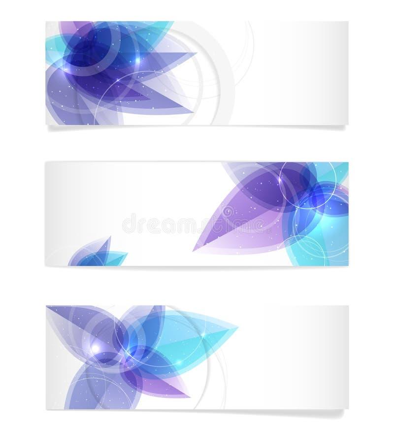 Banderas de papel con el espacio brillante abstracto del motivo y de la copia ilustración del vector