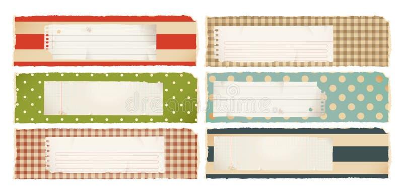 Banderas de papel - horizontales stock de ilustración