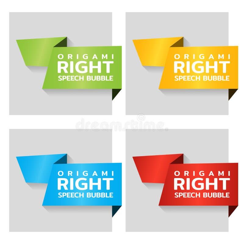 Banderas de papel de la papiroflexia para la etiqueta for Precio logo