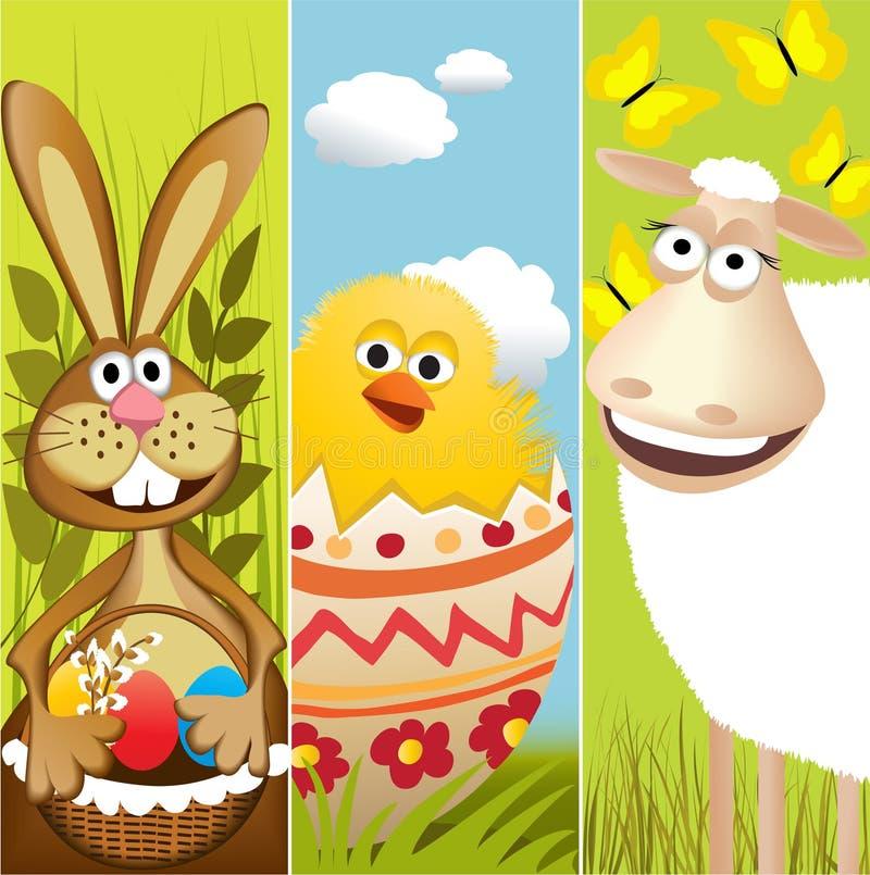 Banderas de Pascua stock de ilustración