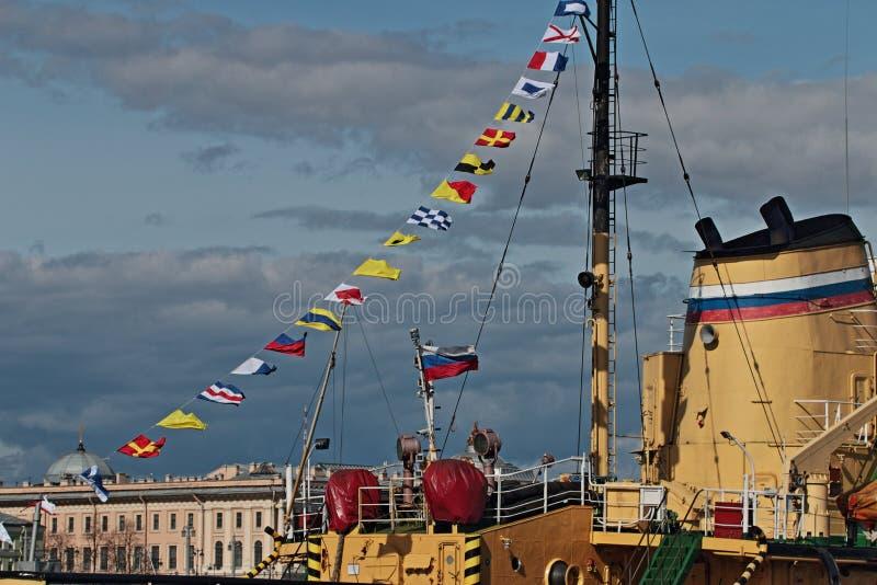 Banderas de señal foto de archivo libre de regalías