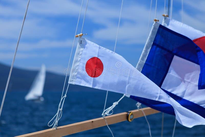 Banderas de señal imagen de archivo