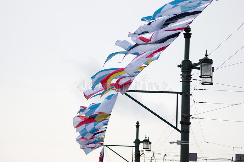 Banderas de señal marítimas imagenes de archivo
