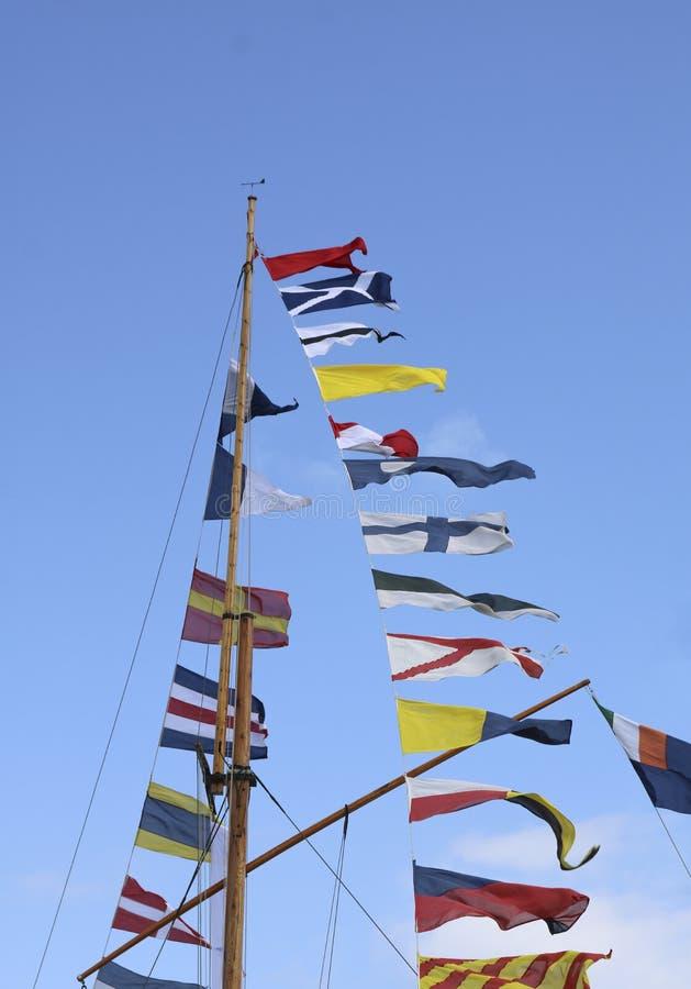 Banderas de se?al imagenes de archivo