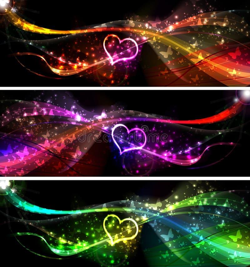 Banderas del amor ilustración del vector