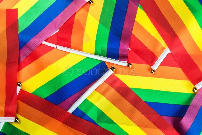 Banderas del arco iris de LGBT fotos de archivo libres de regalías