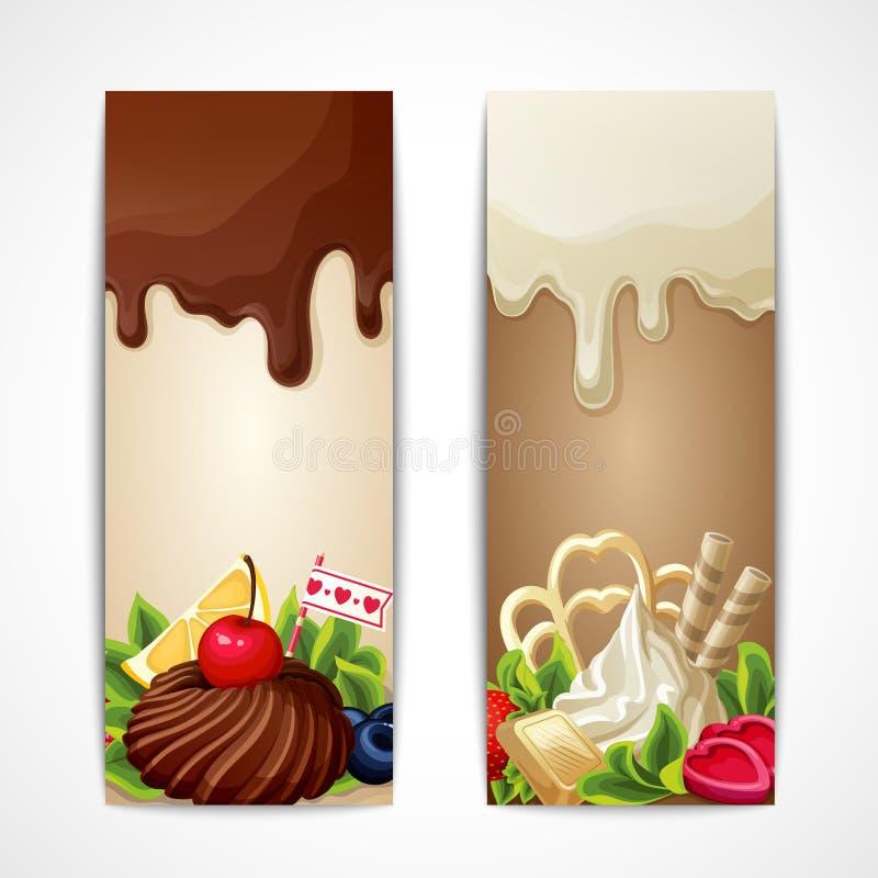Download Banderas Del Chocolate Verticales Ilustración del Vector - Ilustración de partido, bookmark: 42435891