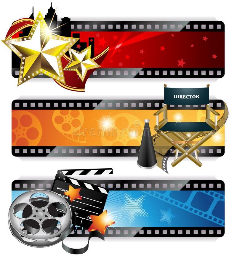 Banderas del cine ilustración del vector