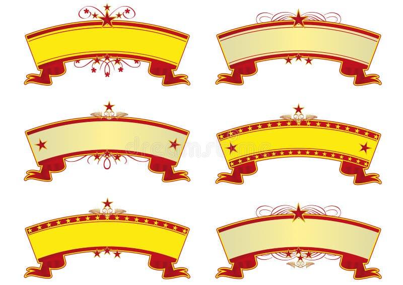 Banderas del circo stock de ilustración