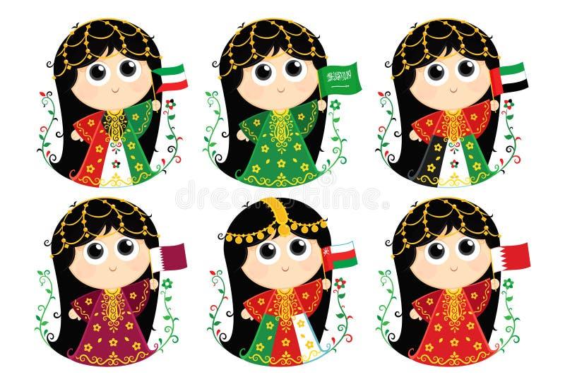 Banderas del Consejo de Cooperación del Golfo libre illustration