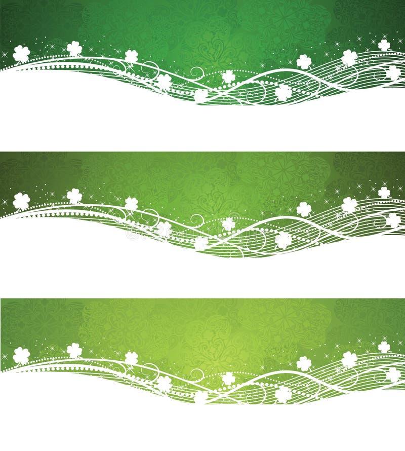 Banderas del día del St. Patrick. ilustración del vector