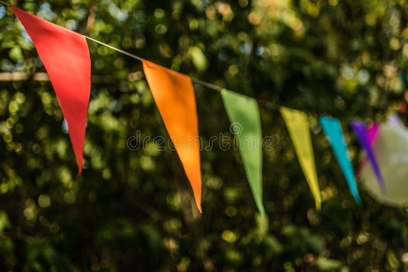 Banderas del empavesado fotografía de archivo libre de regalías