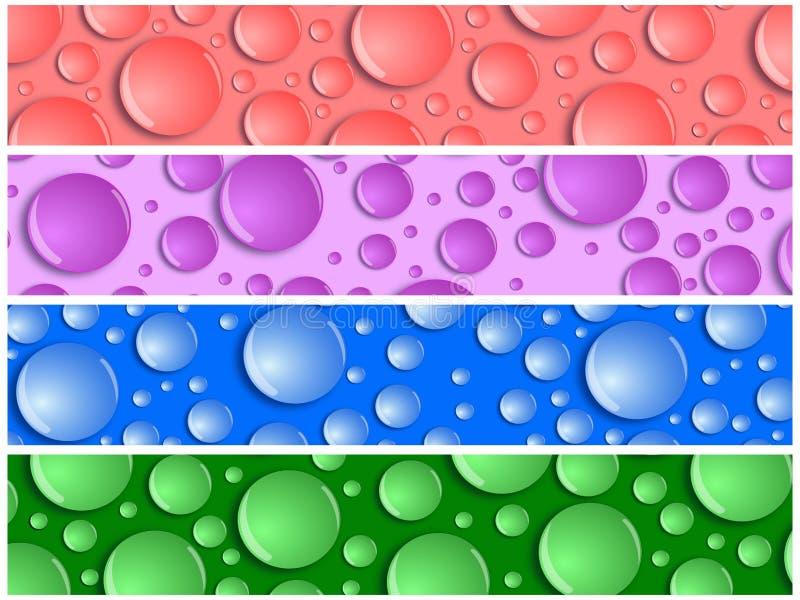 Banderas del fondo de la gota del agua stock de ilustración