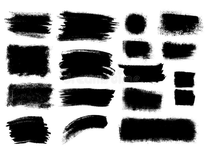 Banderas del Grunge stock de ilustración