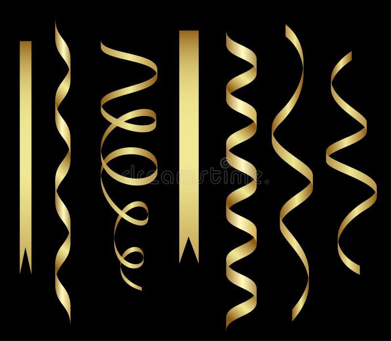 Banderas del oro stock de ilustración
