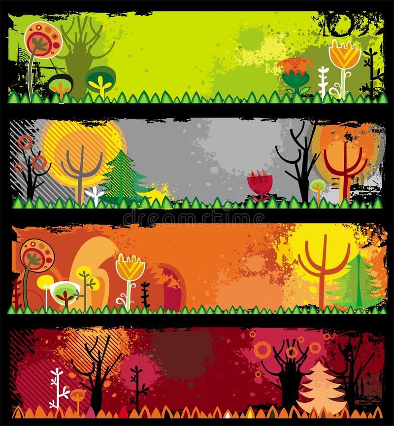 Banderas del otoño libre illustration