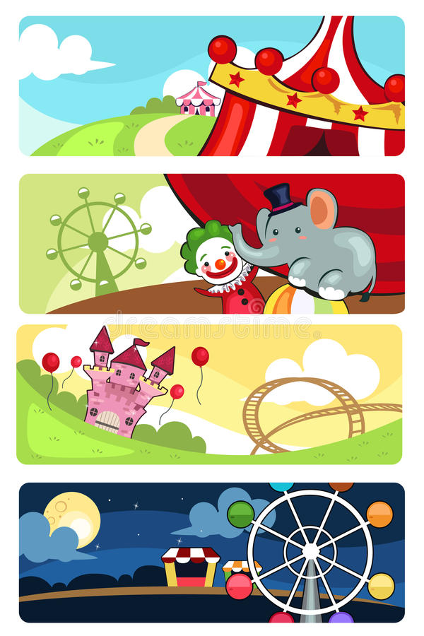 Banderas del parque de atracciones libre illustration