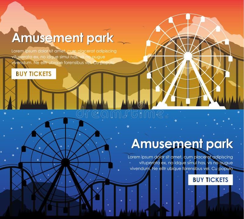 Banderas del parque de atracciones del diseño libre illustration