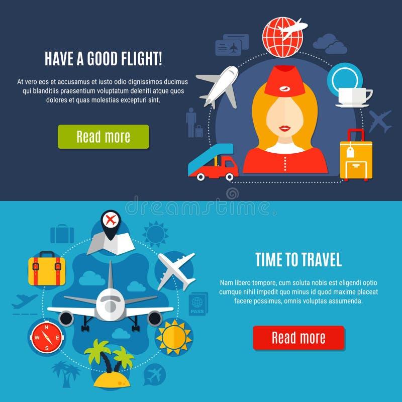 Banderas del plano de servicio online del aeropuerto libre illustration