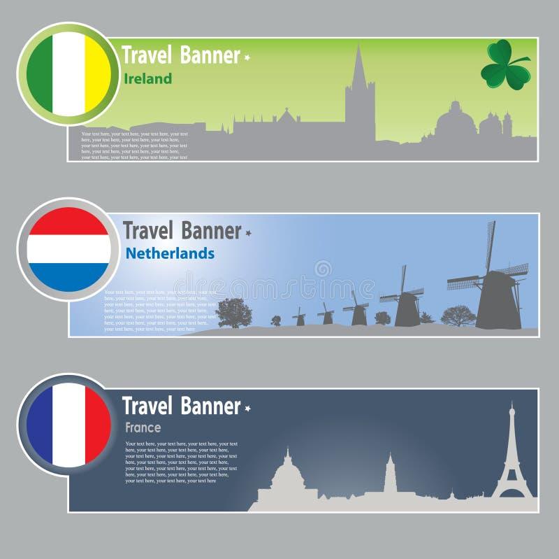 Banderas del recorrido ilustración del vector