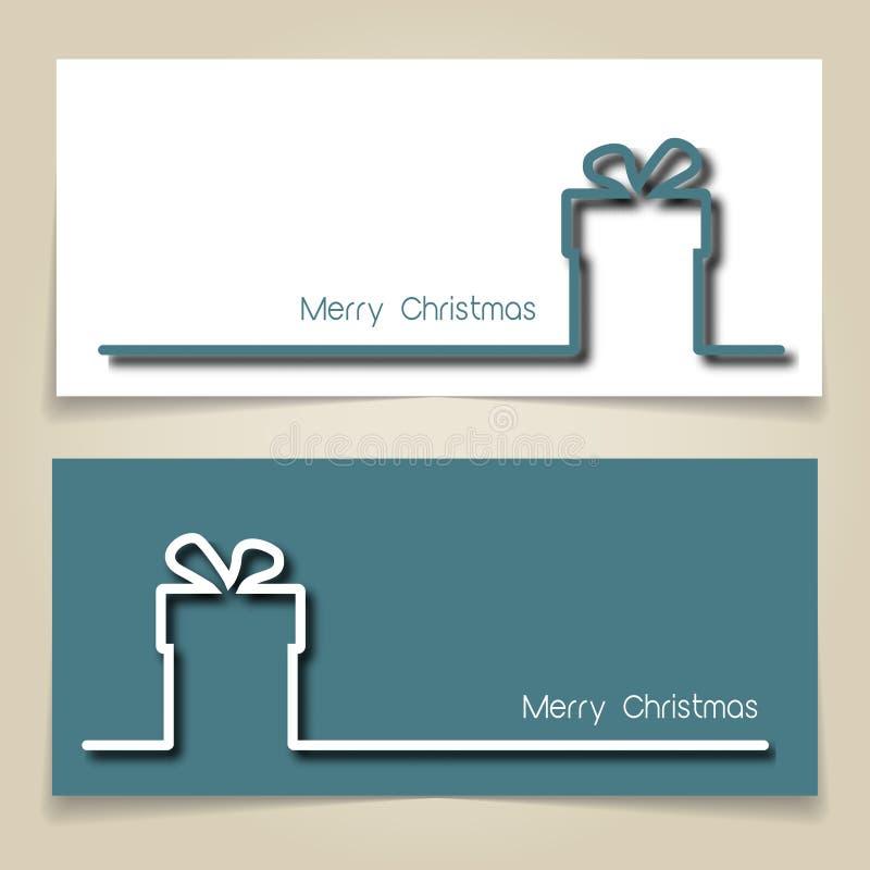 Banderas del regalo de la Navidad ilustración del vector