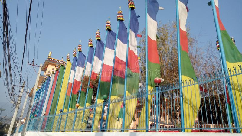 Banderas del rezo imagen de archivo