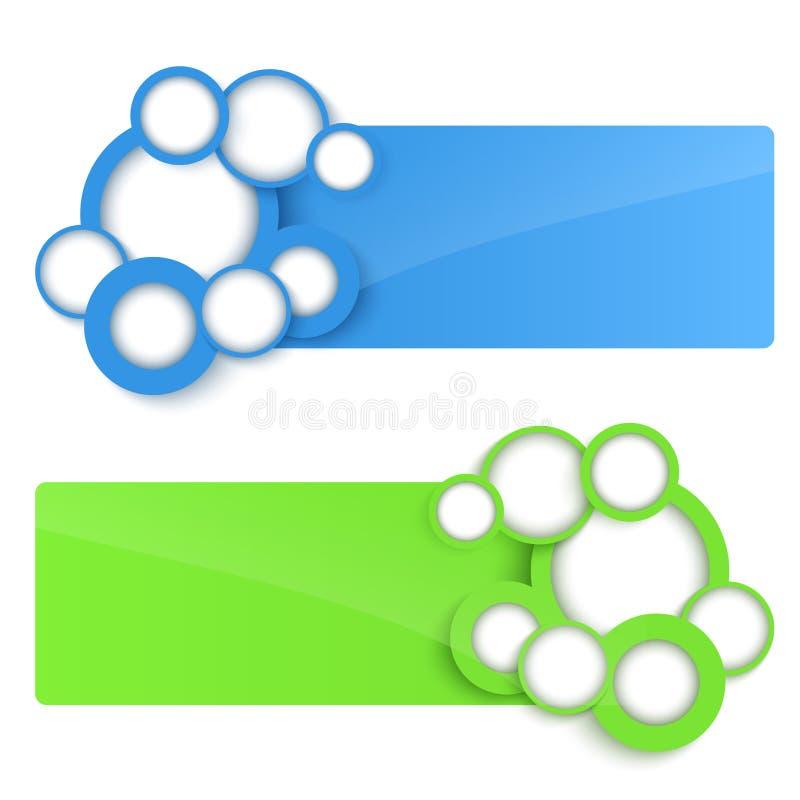 banderas del vector 3D con el círculo. libre illustration
