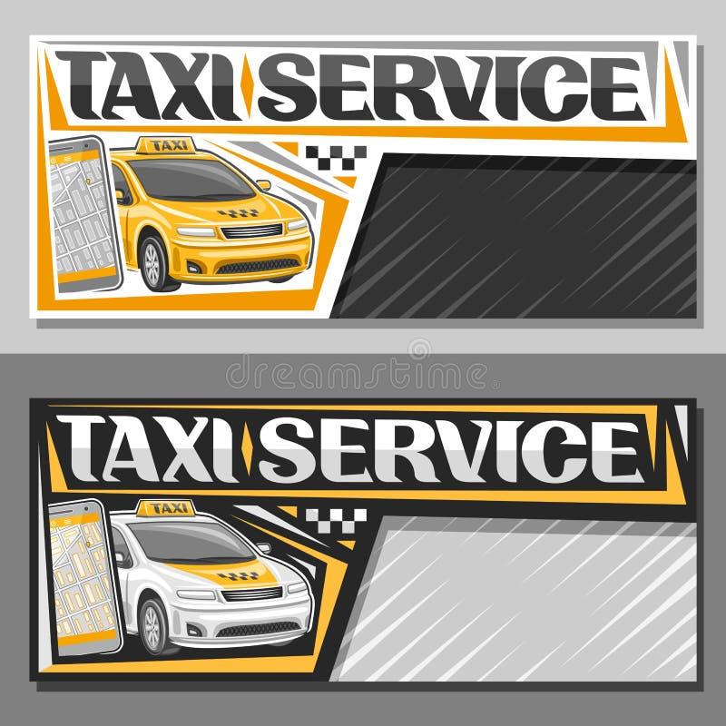 Banderas del vector para el servicio del taxi stock de ilustración