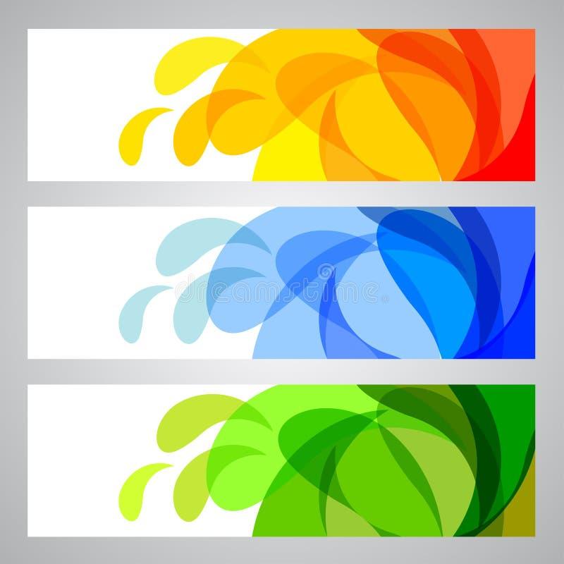 Banderas del verano y del resorte libre illustration