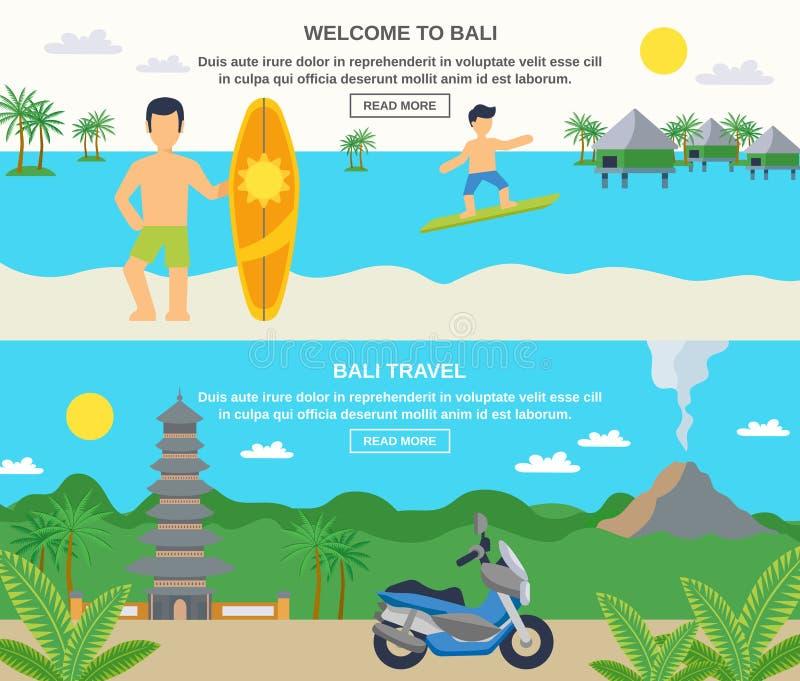 Banderas del viaje de bali ilustraci n del vector ilustraci n de calidad 69018261 - Banera de viaje ...