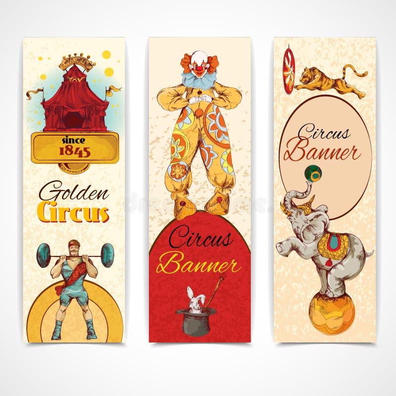Download Banderas Del Vintage Del Circo Fijadas Ilustración del Vector - Ilustración de barbells, álbum: 42436166